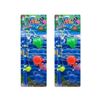 Juego GRANDE de pesca, colores surtidos, 38 cm aprox.