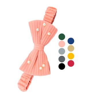 Valerina para cabello moño con perlas, colores surtidos.