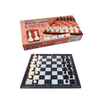 Juego de ajedrez con imán y 32 pz, 20 X 20 cm.