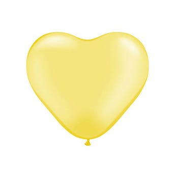 Globo de látex corazón, dorado, 24 X 40 cm aprox.