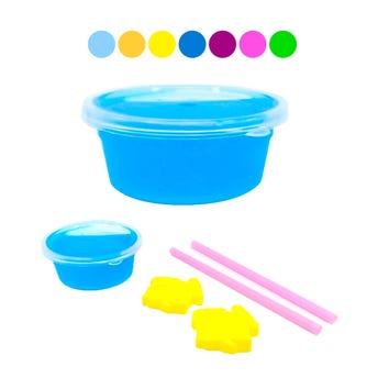 Slime con glitter y accesorios, colores surtidos, 6.5 x 2.5 cm