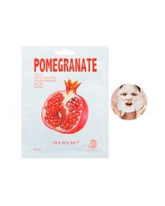 Mascarilla facial textil de granada, MOLÍBAIBEI, refresca la piel, 26 ml.