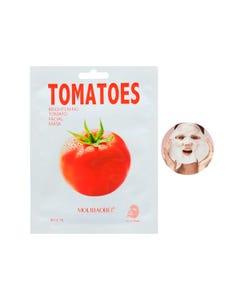 Mascarilla facial textil de jitomate, MOLÍBAIBEI, aclara la piel, 26 ml.