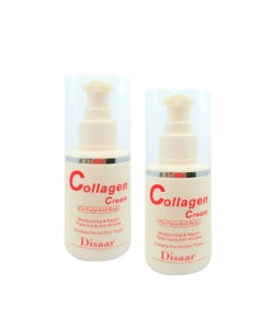 Crema facial y corporal humectante de colageno, 100 ml.