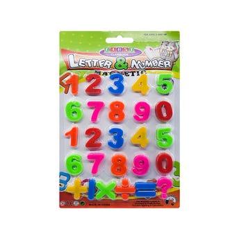 Juego de números con imán, 26 pz, 2.5 cm