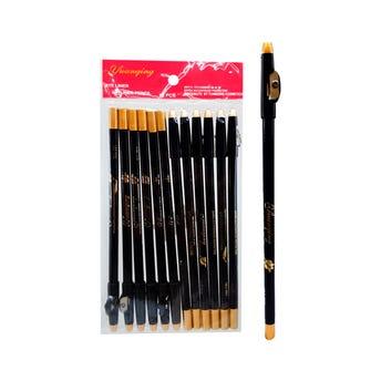 Lápiz delineador para ojos con sacapuntas, AIREMAIN negro, 20 cm