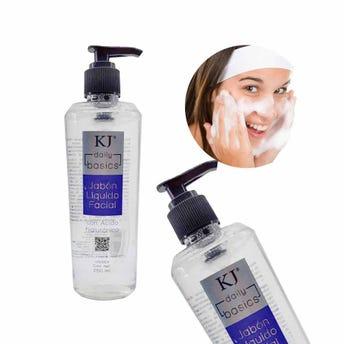 Jabón líquido facial con ácido hialurónico, KJ MARAVILLA, 250 ml.