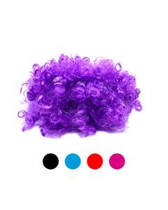 Peluca con rizos, colores surtidos sujetos a disponibilidad.