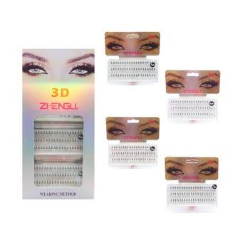 Pestaña postiza 1 por 1, 3D ZJENGLI, modelos surtidos con 60 pz.