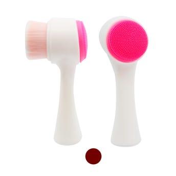 Cepillo facial dúo, color sujeto a disp, 13 cm.