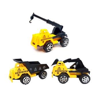 Carro contrucción de fricción, modelos sujetos a disp, amarillo, 10 x 5 cm