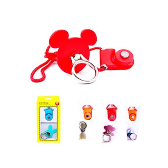 Anillo para celular con listón, colores y modelos sujetos a disp, 4 x 4 cm aprox