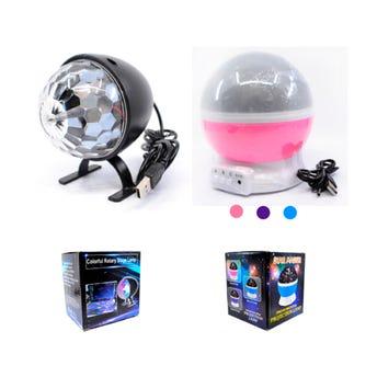 Lámpara esféra de luz estrellas y luna con cable USB, o usa 4 pilas AAA, no incluidas, 13 x 15 cm