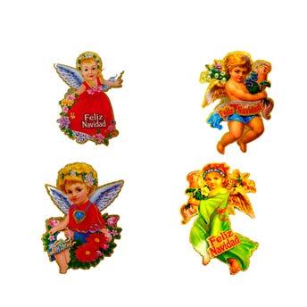 Afiche ángeles de  NAVIDAD, inner por mod sujeto a disp, 20 cm aprox.