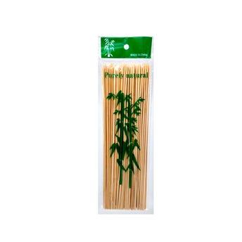 Palillo de bambú para brochetas con 100 pz, 24.5 cm