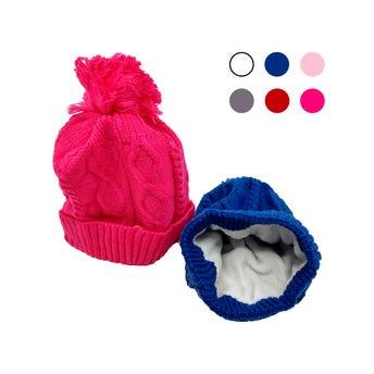 Gorro textil tejido infantil colores surtidos.