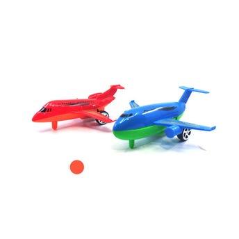 Avión de juguete, colores surtidos, 12 cm.