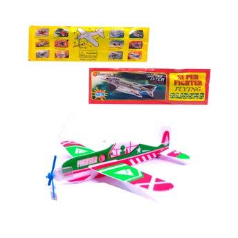 Avión armable de unicel, modelos y colores surtidos, 18 X 19 cm.