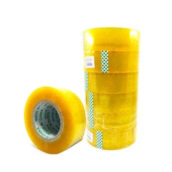 Cinta adhesiva amarilla, 250 mts, 4.5 cm.