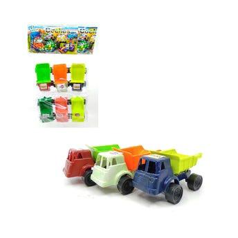 Carro camioneta set de 6 pz, GRANDE, inner por comb sujeto a disp, colores surtidos, 9 X 4.5 X 4 cm.