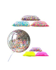 Esféras de unicel para decoración de globos y otros, tamaños surt, inner por comb suj a disp,17X12cm