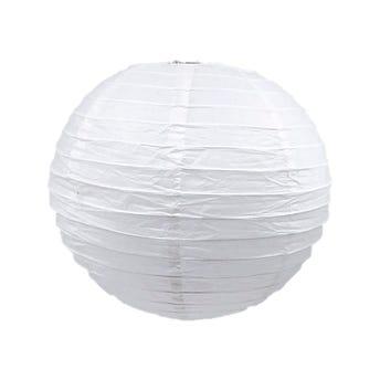 Pantalla de papel, blanca, 25 X 22 cm.