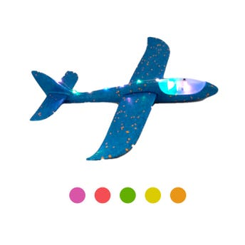Avión de unicel con luz, color sujeto a disp, 47 x 49 cm