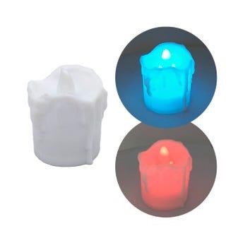Lampara vela de led, cambia de color, 3.7 x 4 cm
