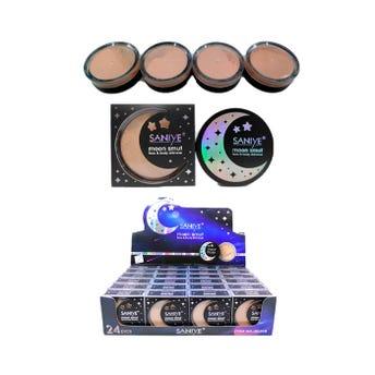 Maquillaje en polvo, MOON SMUT, SANIYE, 4 tonos surtidos, 6.5 gr.