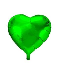 Globo corazón, verde bandera, 45 X 46 cm.