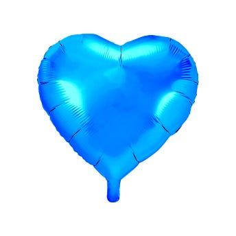 Globo corazón, azul claro, 45 X 46 cm.