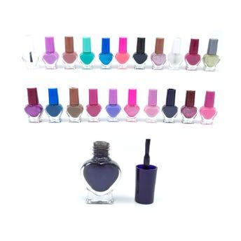 Esmalte para uñas en envase de corazón, colores surtidos, 5 ml