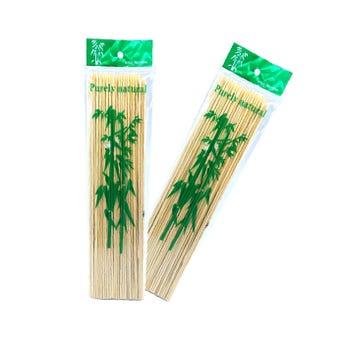 Palillo de bambú para brochetas con 100 pz, 30 cm