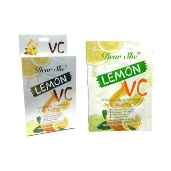 Mascarilla facial de limón y vitamina C, DEAR SHE, 20 grs.