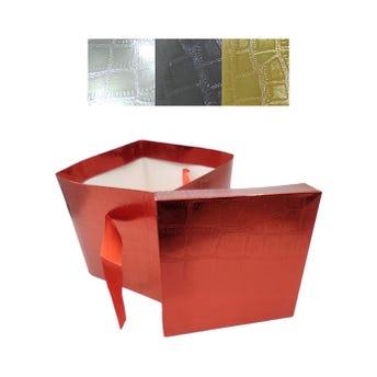 Caja para regalo, colores metálicos, 15 X 15 X 15 cm.