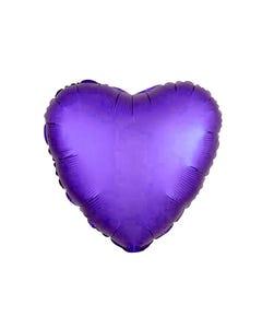 Globo corazón morado semi mate, 43 X 43 cm.