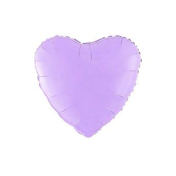 Globo corazón lila mate, 43 X 43 cm.