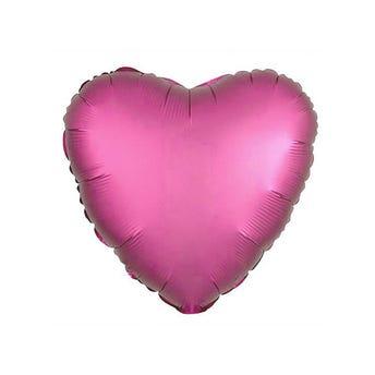 Globo corazón rosa semi mate, 43 X 43 cm.