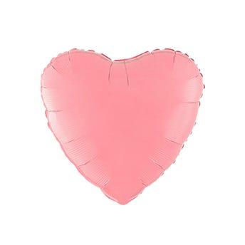 Globo corazón rosa mate, 43 X 43 cm.