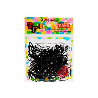 Liga para cabello TPU, negra con 150 pz, inner por mod sujeto  a disp.