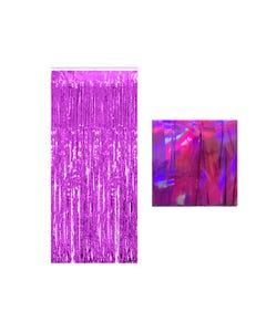 Cortina de papel tornasol, fiusha, 1 x 2 mts aprox