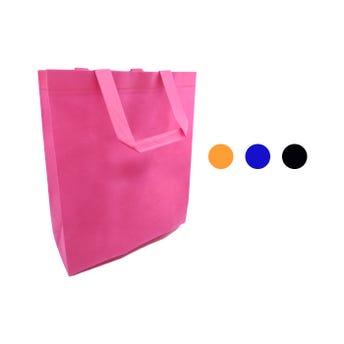 Bolsa textil ecológica con asa, colores surtidos, 33 X 19 X 6 cm.