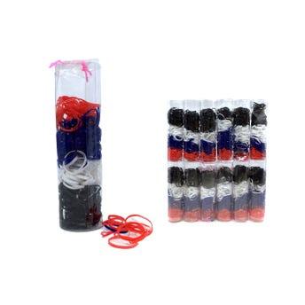 Liga para cabello de látex TPU, tubo con 280 pz, escolar.