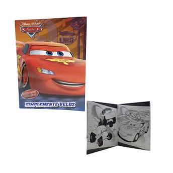 Libro para colorear orig PIXAR CARS, SIMPLEMENTE VELOZ, 16 pag, 20 X 26.5 cm