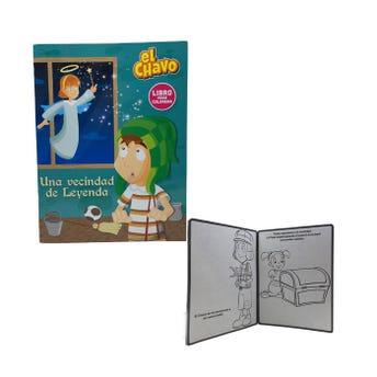 Libro para colorear orig EL CHAVO, UNA VECINDAD DE LEYENDA, 16 pag, 20 X 26.5 cm