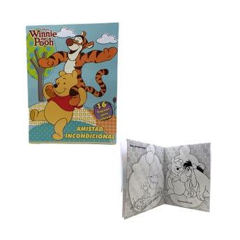 Libro para colorear orig DISNEY WINNIE THE POOH, AMISTAD INCONDICIONAL, 16 pag, 20 X 26.5 cm