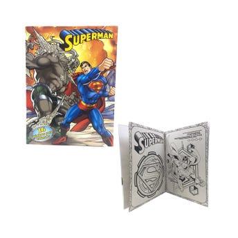 Libro para colorear orig, SUPERMAN, 16 pag, 20 X 26.5 cm
