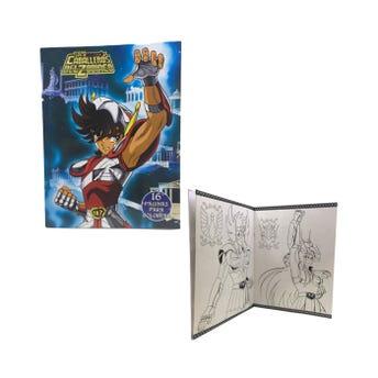Libro para colorear orig, LOS CABALLEROS DEL ZODIACO, 16 pag, 20 X 26.5 cm