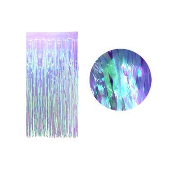 Cortina de papel transparente tornasol, lila, 2 X 1 mt aprox.