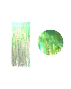 Cortina de papel transparente tornasol, verde, 2 X 1 mt aprox.
